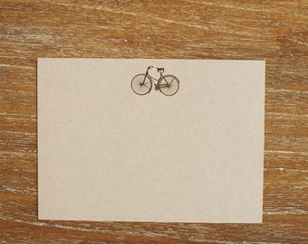 Flat Bicycle Note Cards (Set of 8)
