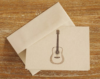 Folded Guitar Note Cards (Set of 8)