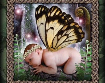 Birth of a Fairy Queen digital art