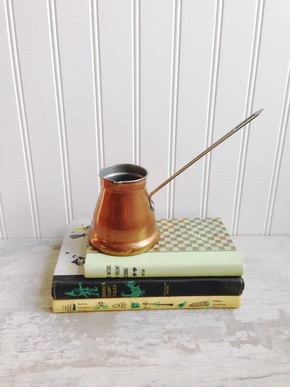 Vintage copper turkish coffee espresso maker moroccan gravy - Solde machine a cafe ...