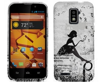Clearance! ZTE Warp 4G n9510 Dandelion Girl Soft and Flexible TPU Case