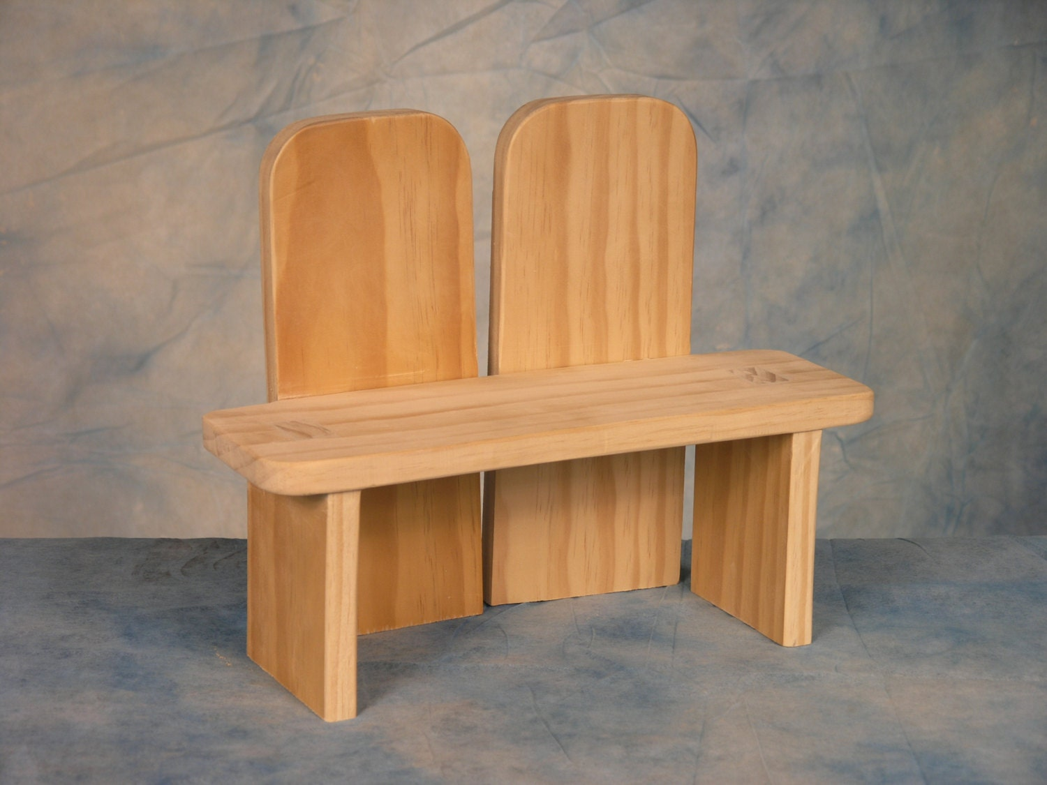 Natural Wooden Benches Partner Bench