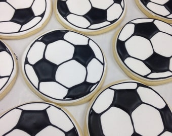 Sugar Cookies - Soccer Balls