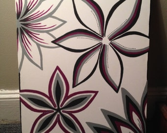Puple Flowers (26x30)