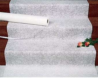 "Aisle Runner • Wedding Aisle Runner • Floral Aisle Runner • Stunning and a Must have. ""White Floral"""