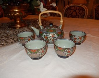 JAPAN TEAPOT and CUPS