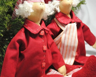 Happy New Year - Christmas Gnomy- Tilda - Two gnome-hand made