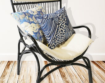 Rattan Lounge Chair in Black