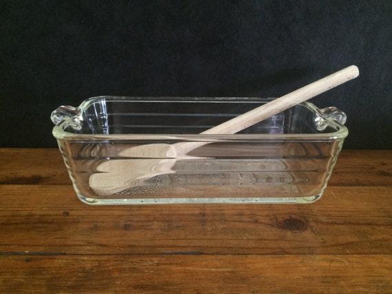Vintage Glasbake 59 Loaf Pan Antique Glass Baker