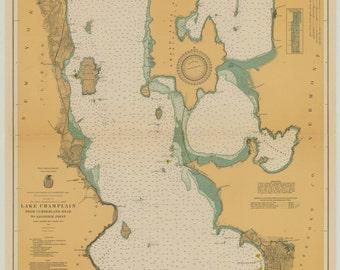 Lake Champlain Map 1929