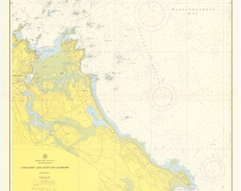 Scituate & Cohasset Harbor Map 1958