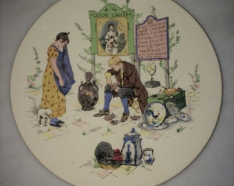French Pottery Plate by Sarreguemines
