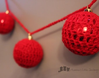 Crochet Christmas Garland hanging decorations