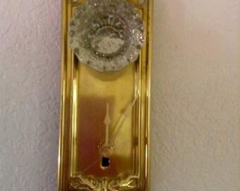 Vintage door plate clock