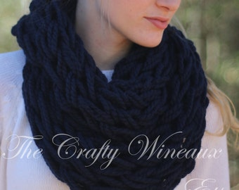 Choose Your Color! - The Leah Infinity - A Chunky, Wide-Knit, Double-Wrap Infinity Scarf