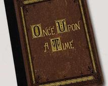 Once Upon A Time Fairytale Book Inspired Folio Case. iPad 2/3/4, iPad Air, iPad Air 2 or iPad Mini  canvas & leather Gear for ipad cases