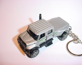 3D International CTX truck custom keychain by Brian Thornton keyring key chain finished in silver 4x4 pick up offroad diesel