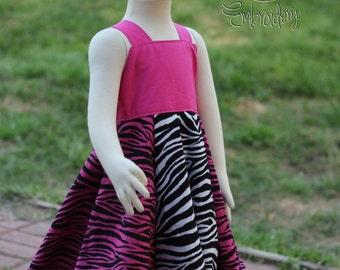 Pink and white Zebra Print Dress