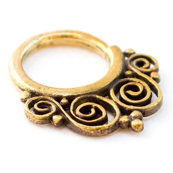 14g Brass Septum Ring. septum 14g. septum piercing. septum jewelry. brass septum ring. tribal septum ring.indian septum.14g septum ring.