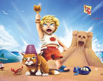 He-Man - Little Dreamers Cute Painting Poster Print