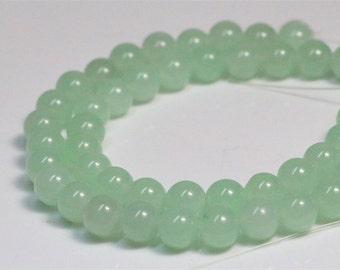 """10mm green jade beads,gemstone round loose beads ,healing stone beads,jewelry supplies,15.5"""" full strand"""