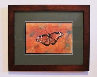 Autumn Monarch, Butterfly Painting #3