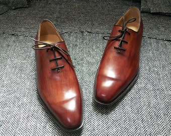 Custom made shoes whoecut oxford lace up shoes