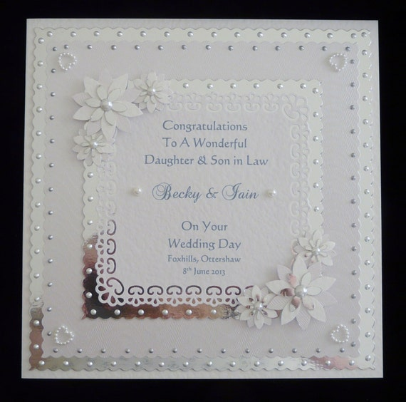 Large Handmade Personalised Wedding Day Congratulations Card