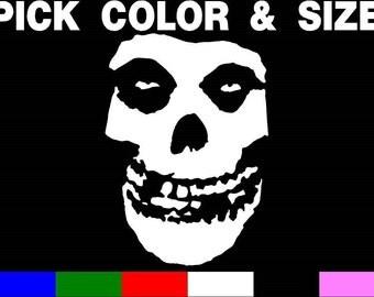 The Misfits Skull vinyl sticker decal Car sticker Punk Danzig PICK SIZE & COLOR
