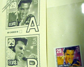 Elvis stamp and official ballot
