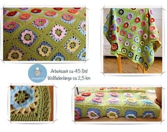 """Crochet blanket """"Flower meadow"""" by Strampeln Afghan"""
