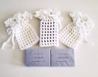 Elegant Crochet Soap Saver Bag - each