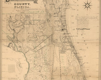 24x36 Poster; Map Of Brevard County, Florida  1893