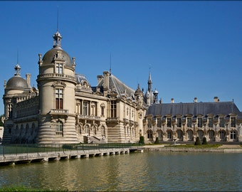 24x36 Poster; Chantilly Castle, Oise Department, France