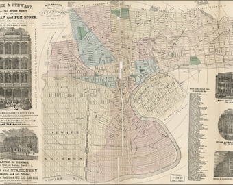 24x36 Poster; Holbrook'S Map Of The City Of Newark, New Jersey 1875