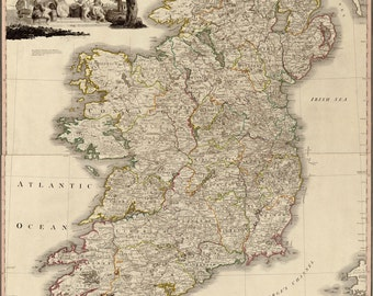 24x36 Poster; Map Of Ireland 1797