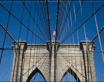 24x36 Poster; Brooklyn Bridge Detail