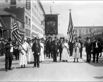 24x36 Poster; Civil War Musicians In A Memorial Day Parade In Los Angeles, Ca.1915 (Chs-14141)