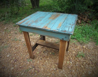 Rustic Refurbished End Table