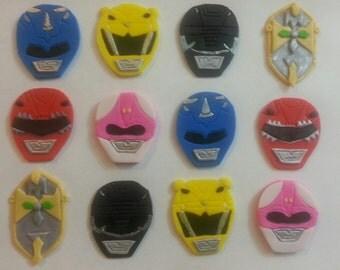 Power Ranger Inspired Fondant Cupcake Toppers