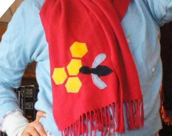 long fleece bee scarf
