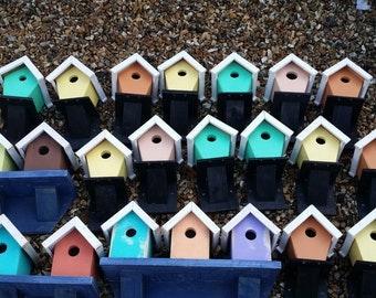 Beach Hut Bird House, wooden wood bespoke gift