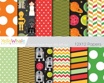 Digital Paper Pack - Star Wars for scrapbooking, paper crafts invitations cards making - only FOR PERSONAL USE