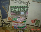 Bath Bomb Fizzie Powder, Zombie Dust, BUBBLE GUM Fragrance, 3 ozs, pink, green, made to order, children's bath tub products, fizzy, foaming