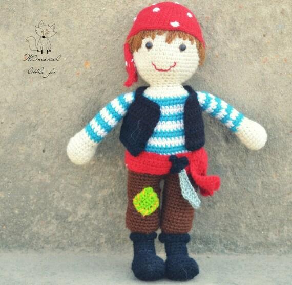 Crochet pattern, crochet pirate pattern, pirate amigurumi ...