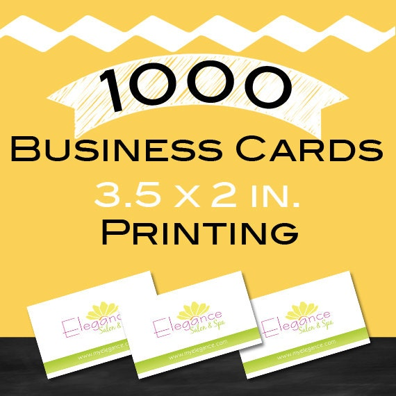 1000 Business Card Printing 2 5x3 inch 16pt by