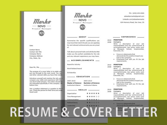 sale resume template cover letter cv cover by resumeatelier