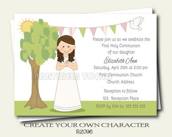 il_340x270.705367937_h5ny personalized 1st communion invitation for twins boy and girl,First Communion Invitations For Boy Girl Twins