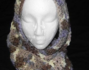 Blue/brown (Nature's Way) Multi color Infinity scarf