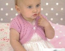 Knitting Pattern Baby Bolero Cardigan : Popular items for girls bolero on Etsy